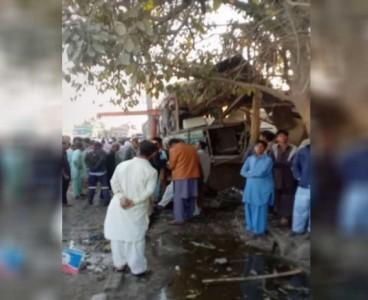 Three killed, three injured in bus-motorcycle collision near Karachi's Landhi